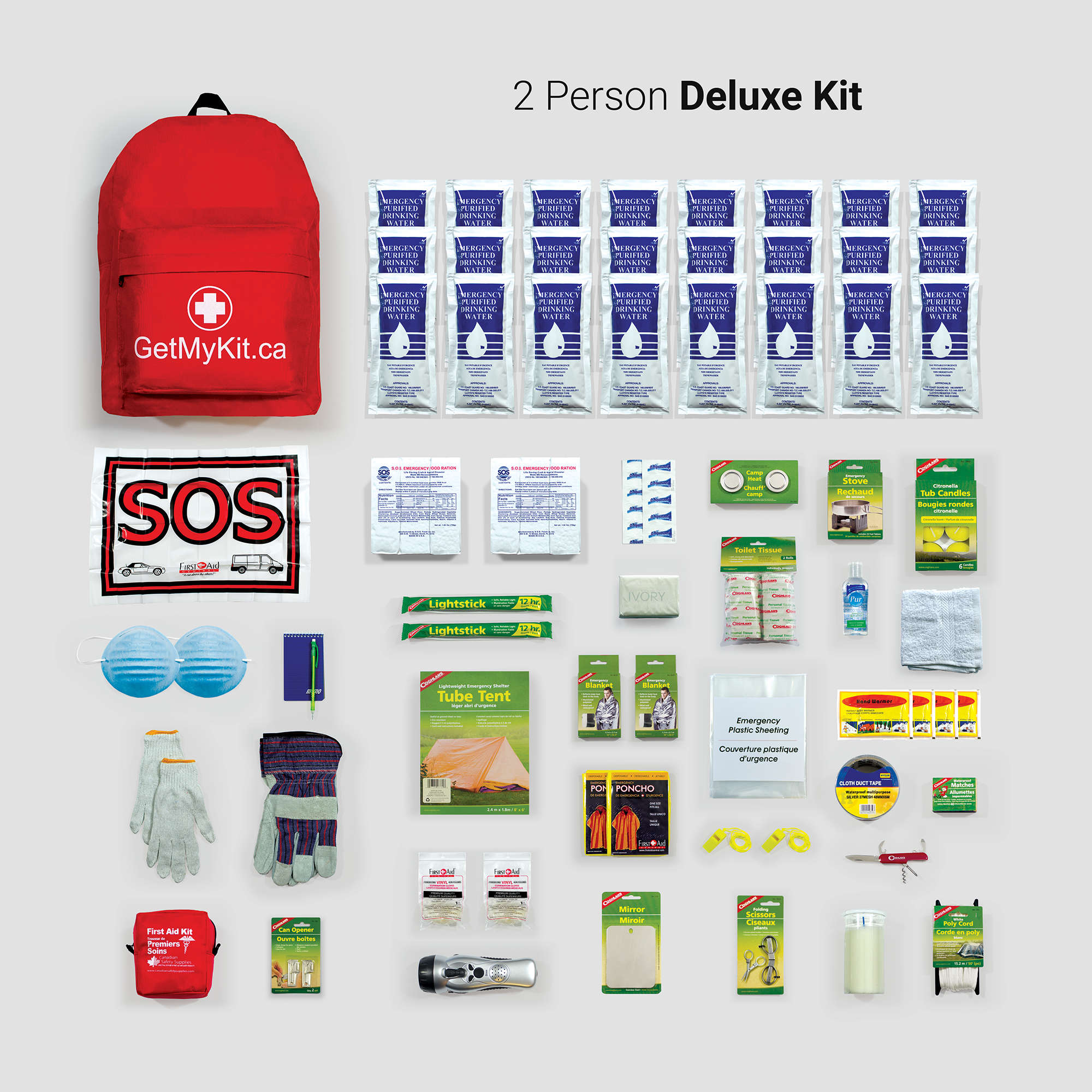 Deluxe Emergency Kit 2 Person Getmykit Ca