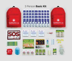 3 person basic emergency kit